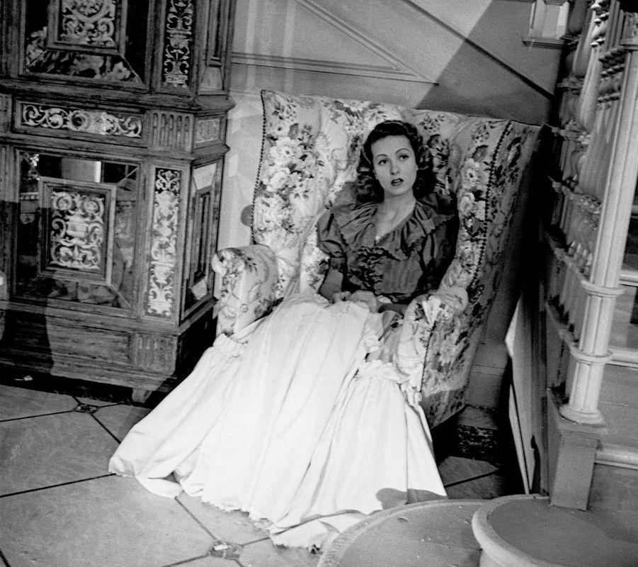 """Sur le tournage de """"Battement de coeur"""" 1939."""