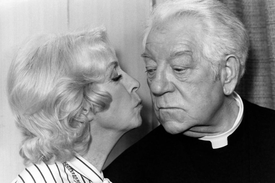 "Avec Jean Gabin dans ""L'année Sainte"" en 1976."
