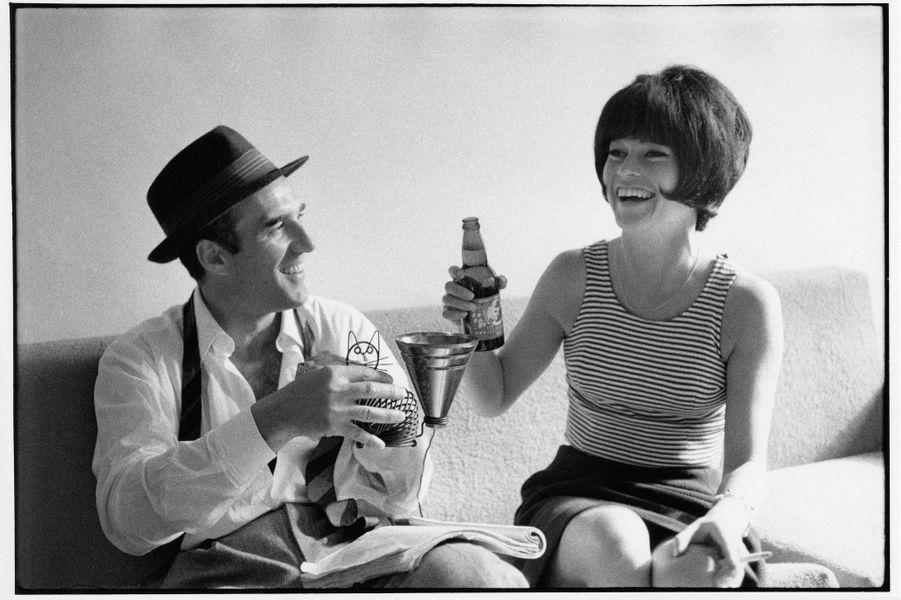 Michel Piccoli et Brigitte Bardot sur le tournage du «Mépris».