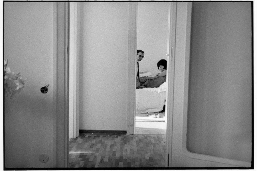 Jean-Luc Godard et Brigitte Bardot sur le tournage du «Mépris».