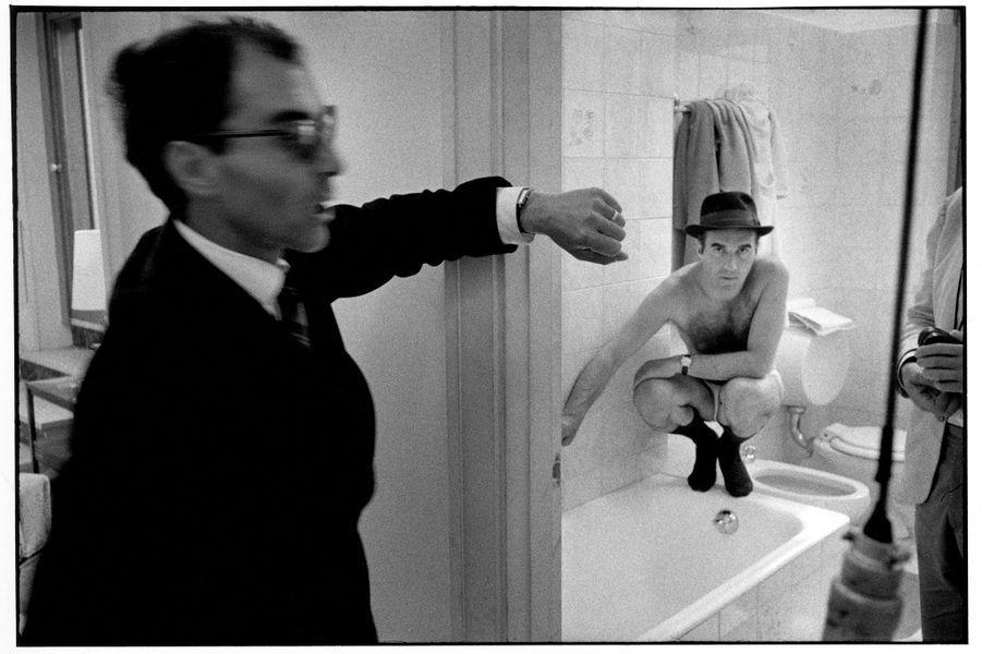 Jean-Luc Godard et Michel Piccoli sur le tournage du «Mépris».