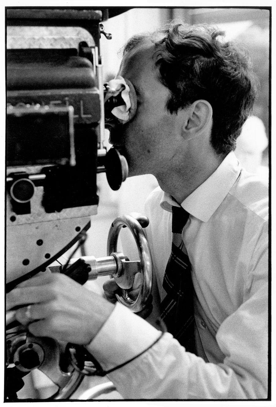 Jean-Luc Godard sur le tournage du «Mépris».