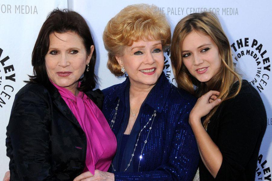 Trois générations:Debbie Reynolds, Carrie Fisher et sa fille Billie