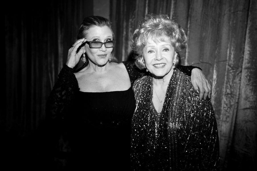 Debbie Reynolds et Carrie Fisher en 2015