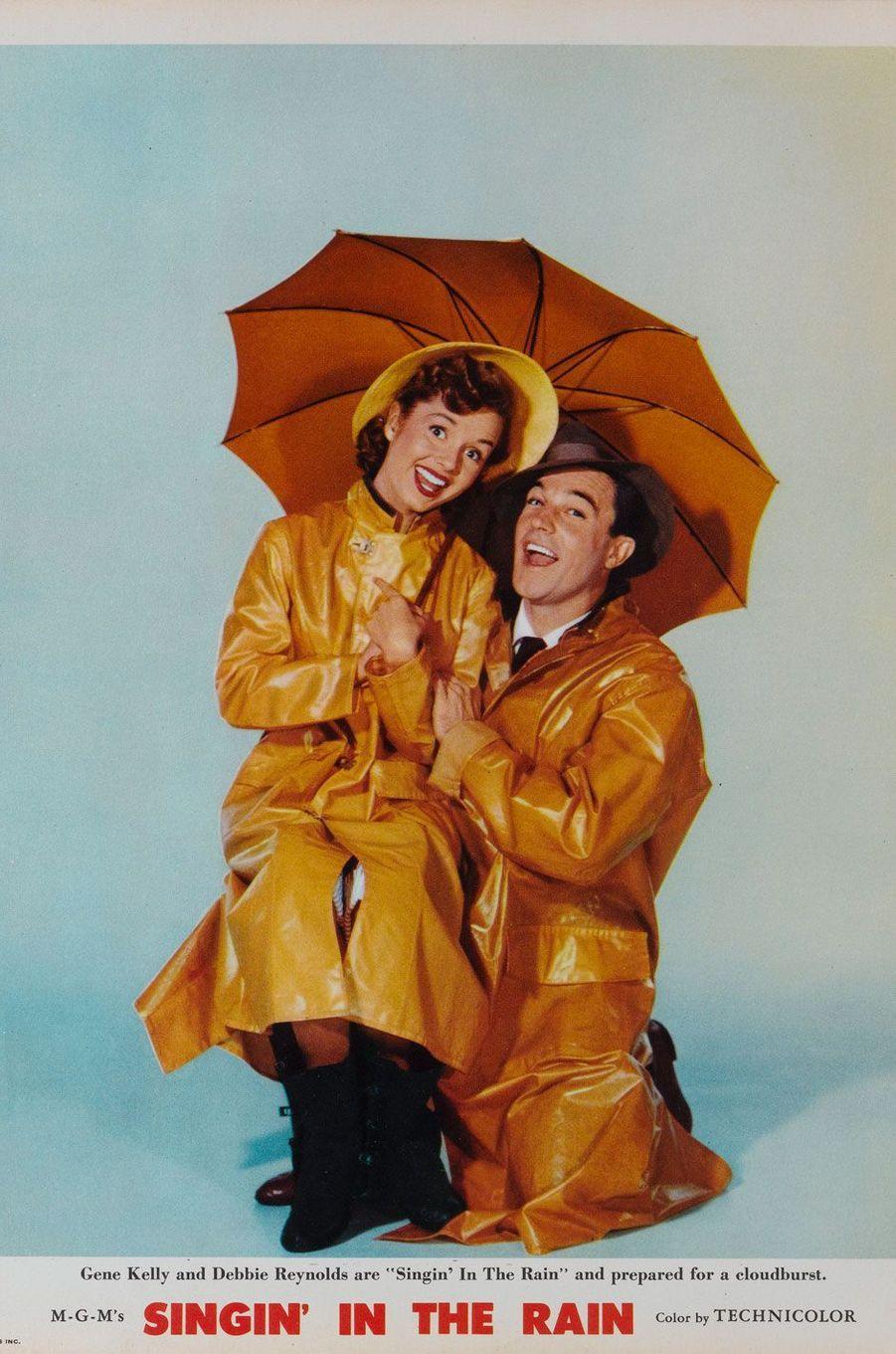 """Affiche du film """"Singin' In the Rain"""" avec Gene Kelly et Debbie Reynolds, sorti en 1952"""