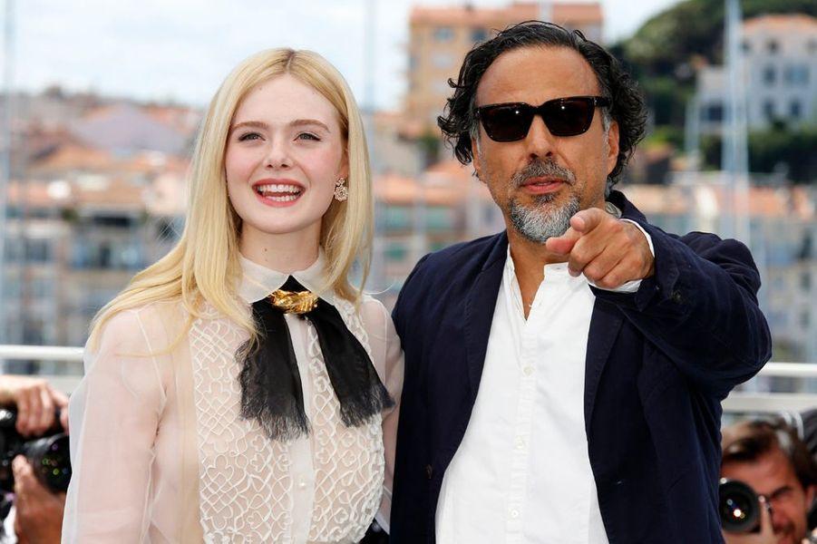 Elle Fanning et le président du jury Alejandro Gonzalez Inarritu
