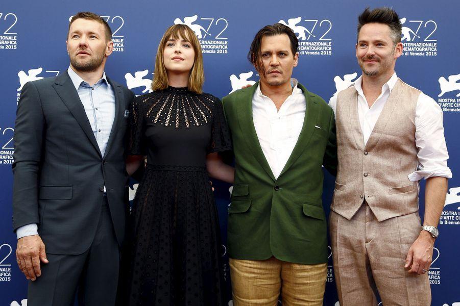 """Vendredi 4 septembre : L'équipe de """"Black Mass"""" arrive à la 72ème édition du festival international du film de Venise."""