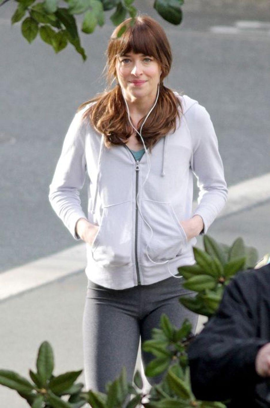 """Sur le tournage de """"Cinquante nuances de Grey"""" avec Dakota Johnson et Jamie Dornan"""