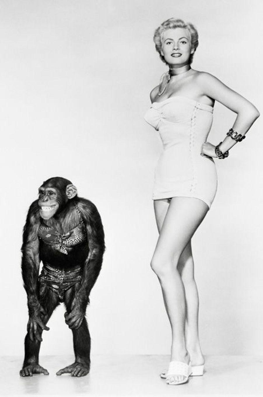 Anita Ekberg, en 1952