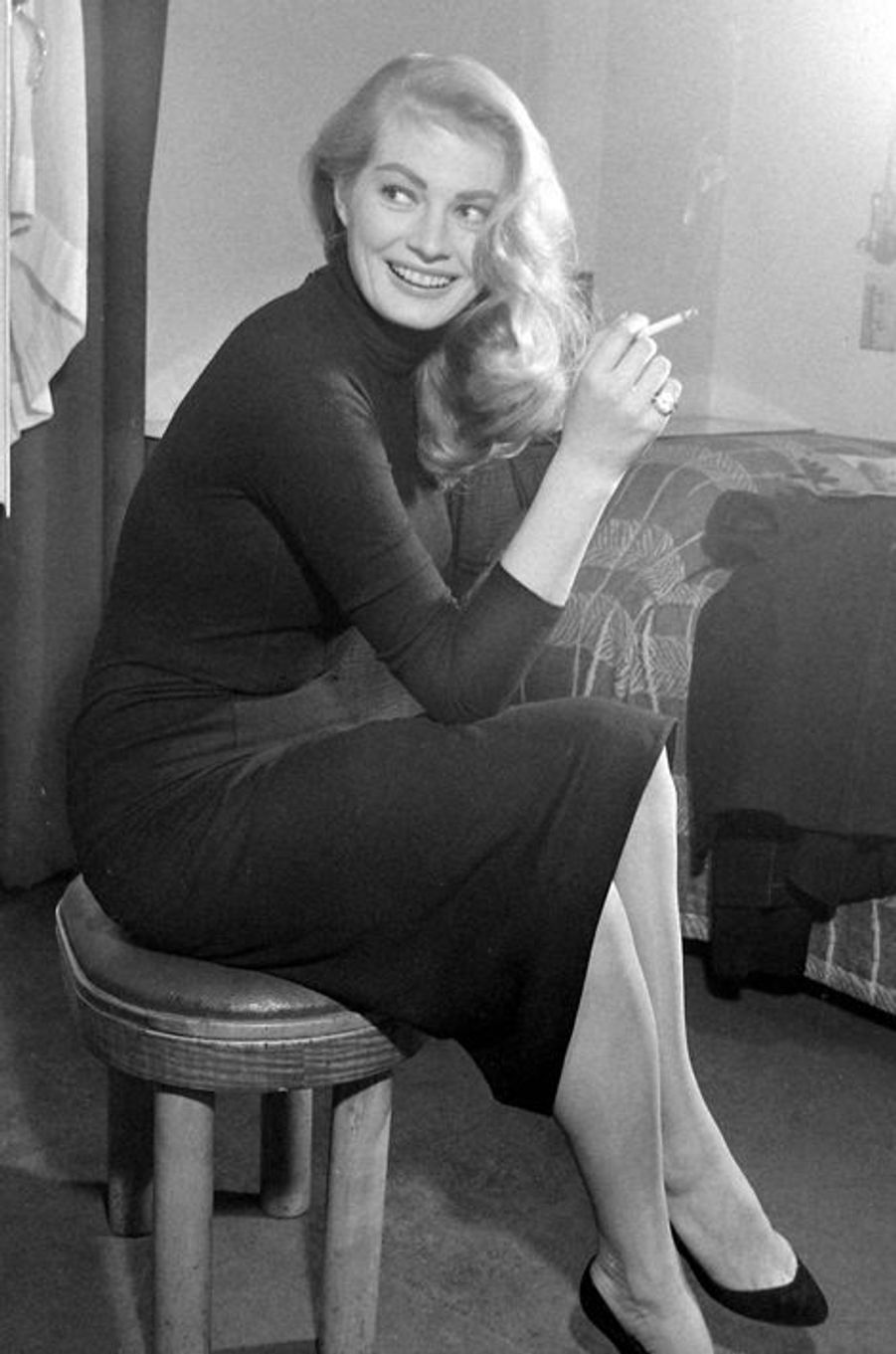 Anita Ekberg, en 1955