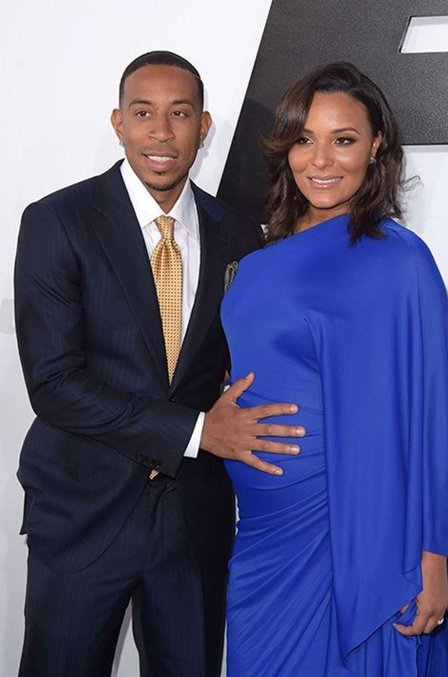 Ludacris et son épouse, Eudoxie Agnan, à Los Angeles le 1er avril 2015