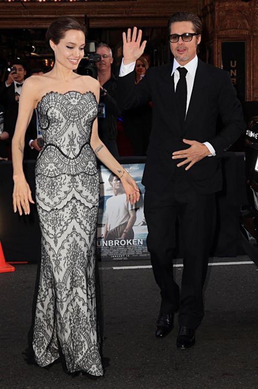 Angelina Jolie et Brad Pitt à Sydney le 17 novembre 2014