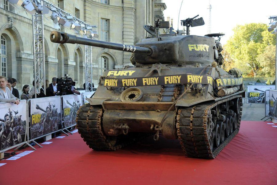 """La première de """"Fury"""", à Paris"""