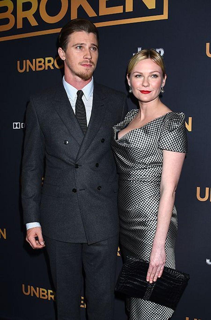 Garrett Hedlund et Kirsten Dunst à Los Angeles le 15 décembre 2014