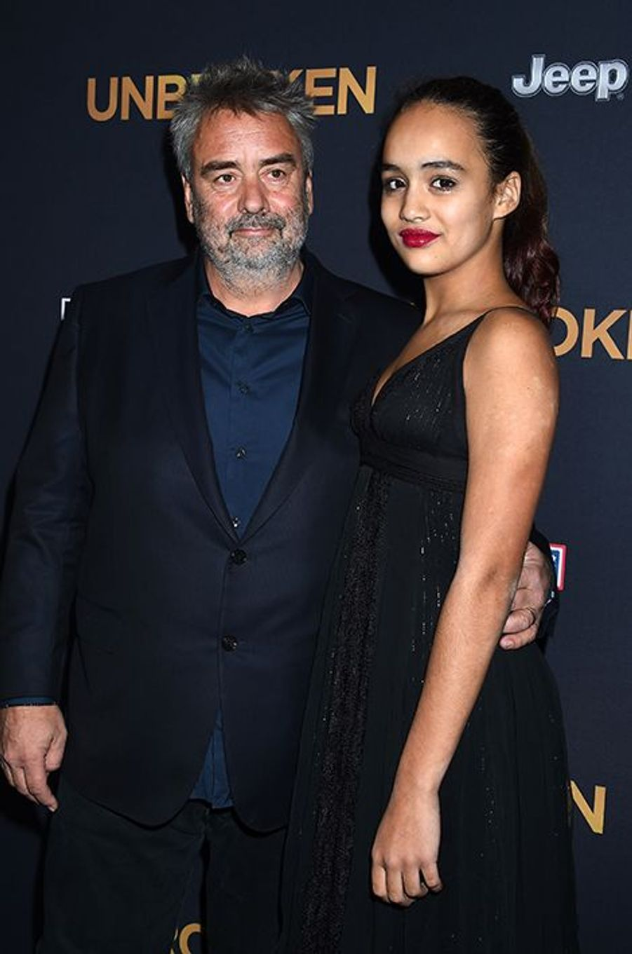 Luc Besson et sa fille Thalia à Los Angeles le 15 décembre 2014