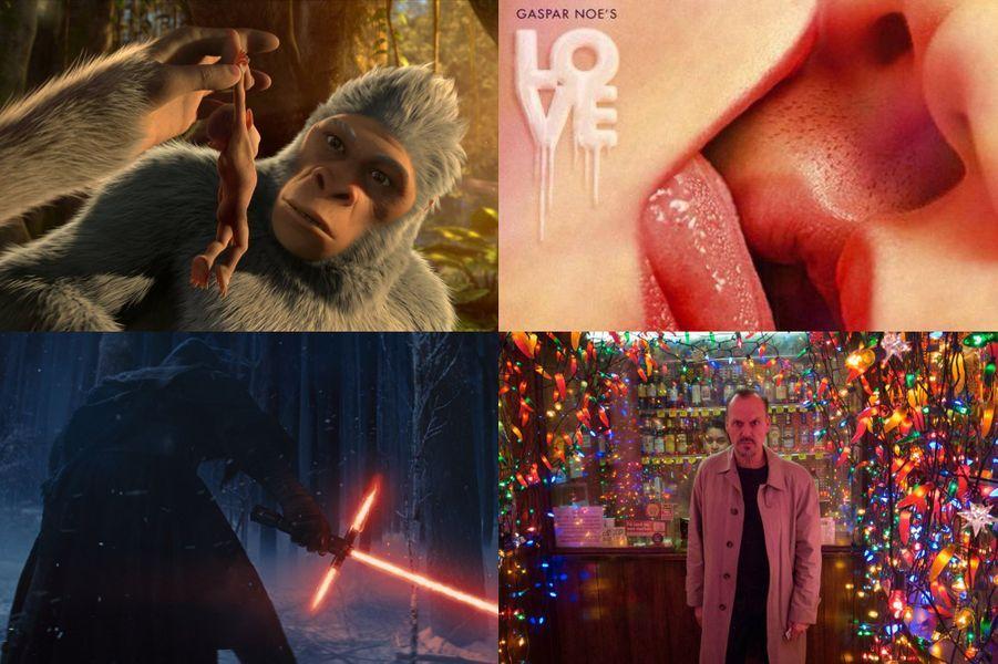 """Paris Match vous a sélectionné les 100 films qui feront l'actualité en 2015. Cent longs métrages en cinq parties: les films français, les films attendus aux Oscars, les blockbusters, les films d'auteur et enfin les films d'animation.Les blockbusters """"Taken 3"""" d'Olivier Megaton, sortie le 21 janvier """"Jupiter: le destin de l'univers"""" d'Andy et Lana Wachowski, sortie le 4 février """"50 Nuances de Grey"""" de Sam Taylor-Johnson, sortie le 11 février """"Chappie"""" de Neill Blomkamp, sortie le 4 mars """"Au coeur de l'Océan"""" de Ron Howard, sortie le 11 mars """"Diversion"""" de Glen Ficarra, John Requa, sortie le 11 mars """"Gunman"""" de Pierre Morel, sortie le 11 mars """"Divergente 2: l'insurrection"""" de Robert Schwentke, sortie le 18 mars """"Hacker"""" de Michael Mann, sortie le 18 mars """"Cendrillon"""" de Kenneth Branagh, sortie le 25 mars """"Fast & Furious 7"""" de James Wan, sortie le 1er avril """"Avengers : L'ère d'Ultron"""" de Joss Whedon, sortie le 29 avril """"Mad Max: Fury Road de George Miller"""", sortie le 13 mai """"Tomorrowland"""" de Brad Bird, sortie le 20 mai """"San Andreas"""" de Brad Peyton, sortie le 20 mai """"Jurassic World"""" de Colin Trevorrow, sortie le 10 juin """"Terminator: Genisys"""" de Alan Taylor, sortie le 1er juillet """"Ant-Man"""" de Peyton Reed, sortie le 22 juillet """"Pixels"""" de Chris Colombus, sortie le 5 août """"Ted 2"""" de Seth MacFarlane, sortie le 12 août """"Everest"""" de Baltasar Kormákur, sortie le 23 septembre """"The Walk"""" de Robert Zemeckis, sortie le 30 septembre """"Le Livre de la jungle"""" de Jon Favreau, sortie le 21 octobre """"SPECTRE"""" de Sam Mendes, sortie le 23 octobre""""Star Wars : Episode VII - Le Réveil de la Force"""" de J.J. Abrams, sortie le 18 décembreFilms attendus aux Oscars """"Invincible"""" d'Angelina Jolie, sortie le 7 janvier """"Wild"""" de Jean-Marc Vallée, sortie le 14 janvier """"Foxcatcher"""" de Bennett Miller, sortie le 21 janvier """"Une merveilleuse histoire du temps"""" de James Marsh, sortie le 21 janvier """"Into the Woods, promenons-nous dans les bois"""" de Rob Marshall, sortie le 28 janvier """"Imitation Game"""" de Morten T"""