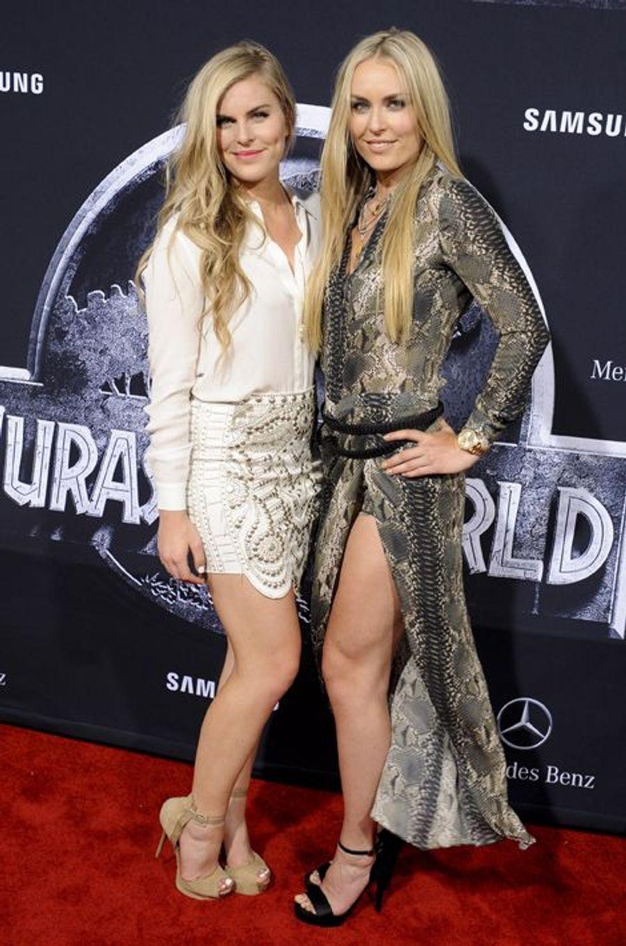 Lindsey Vonn aux côtés de sa soeur Karin Kildow à Los Angeles le 9 juin 2015