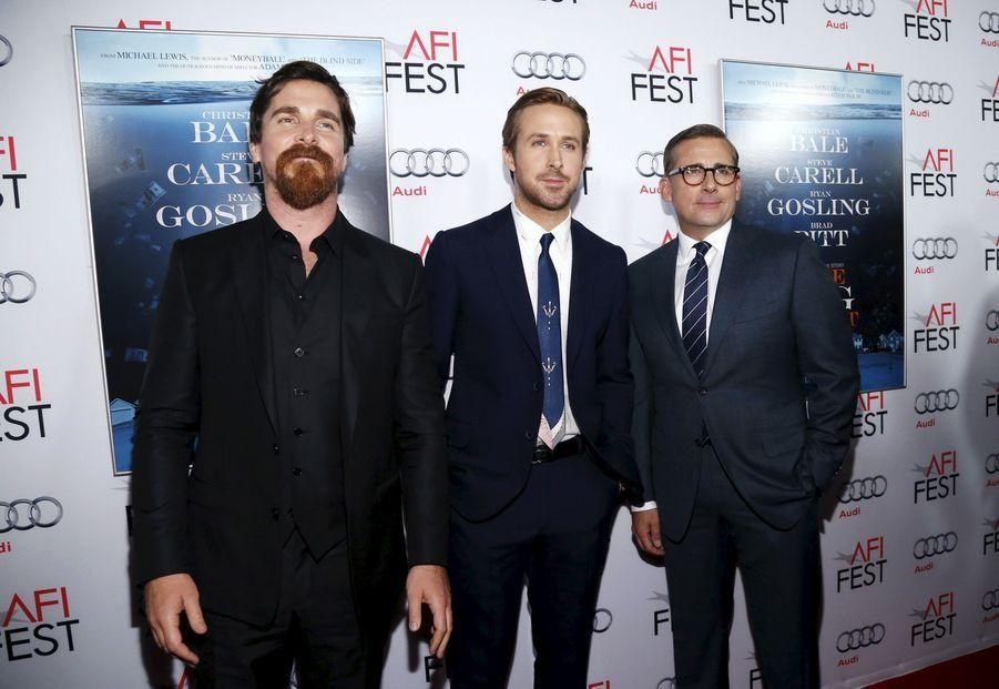 Christian Bale, Ryan Gosling et Steve Carell