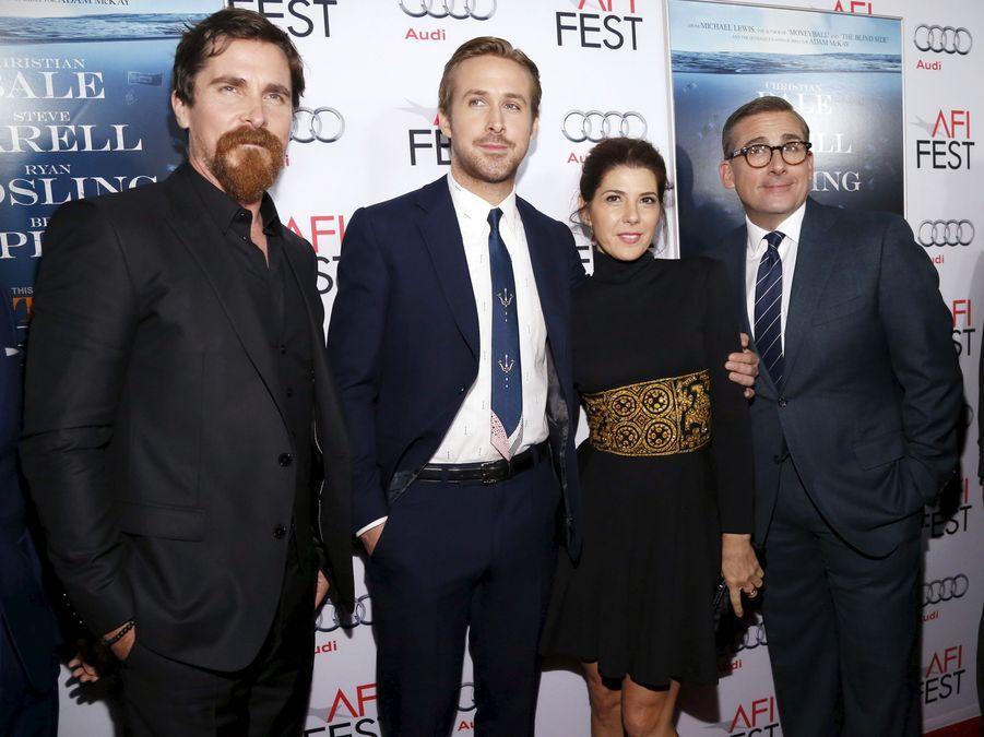Christian Bale, Ryan Gosling, Marisa Tomei et Steve Carell