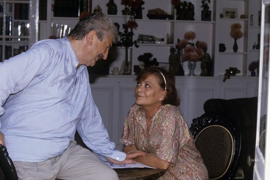 Danièle Delorme et Yves Robert, août 1990