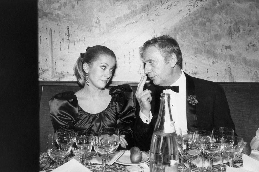 Catherine Deneuve et Yves Montand en 1981