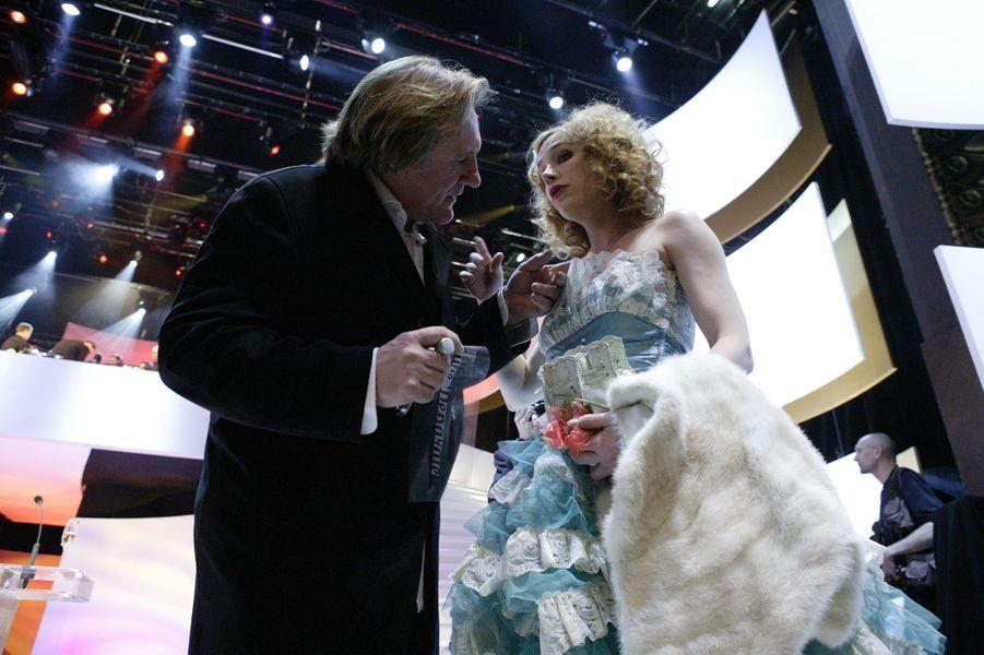 Gérard et Julie Depardieu en 2005