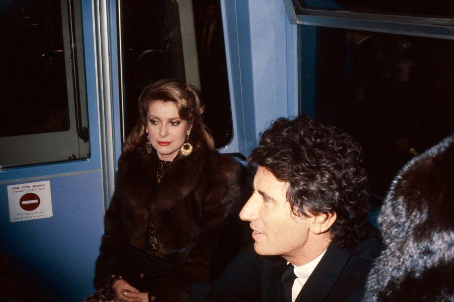 Jack Lang et Catherine Deneuve en 1983