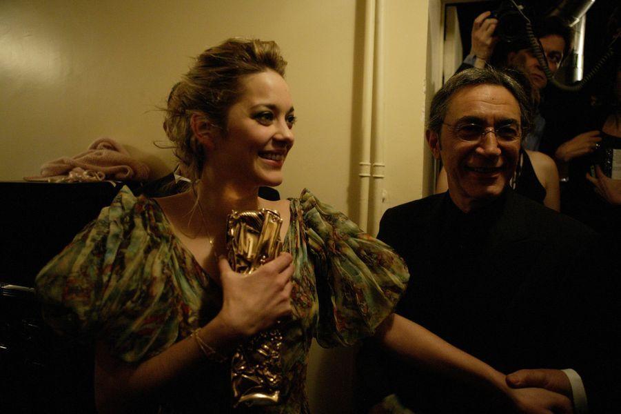 Marion Cotillard et Richard Berry en 2005