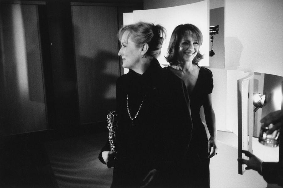 Meryl Streep et Nathalie Baye en 2003