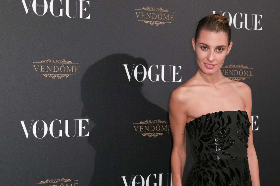 Sveva Alviti à la soirée Vogue en mars 2015
