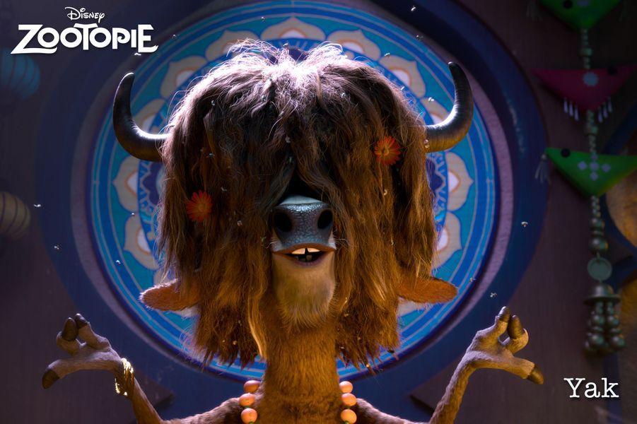 """Dans """"Zootopie"""", Thomas Ngijol est lui représenté à l'écran par Yax, un yak extrêmement détendu"""