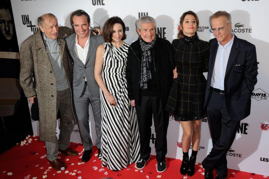 """L'équipe du film """"Un + Une"""" à Paris le 23 novembre 2015"""