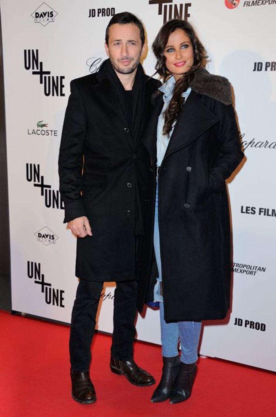 Michael Cohen et Malika Ménard à Paris le 23 novembre 2015
