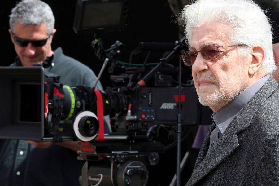 Ettore Scola sur le tournage d'un documentaire consacré à Fellini (2013)