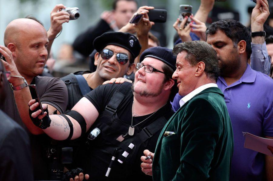 Sylverster Stallone et des fans