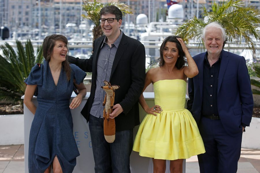 Camille, Mark Osborne, Florence Foresti et André Dussollier à Cannes le 22 mai 2015