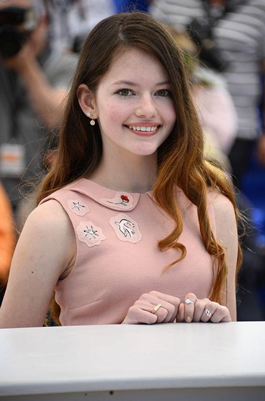 Mackenzie Foy à Cannes le 22 mai 2015