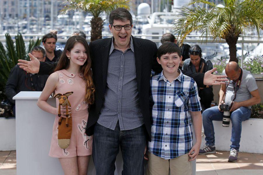 Mackenzie Foy, Mark et Riley Osborne à Cannes le 22 mai 2015