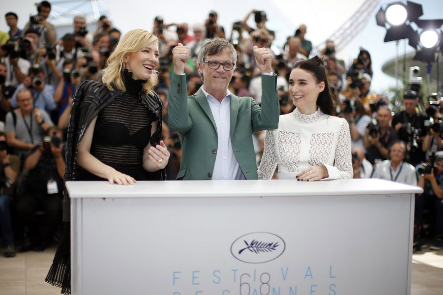 Cate Blanchett, Todd Haynes et Rooney Mara à Cannes le 17 mai 2015