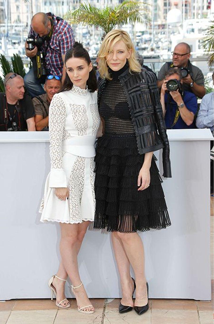 Rooney Mara et Cate Blanchett à Cannes le 17 mai 2015