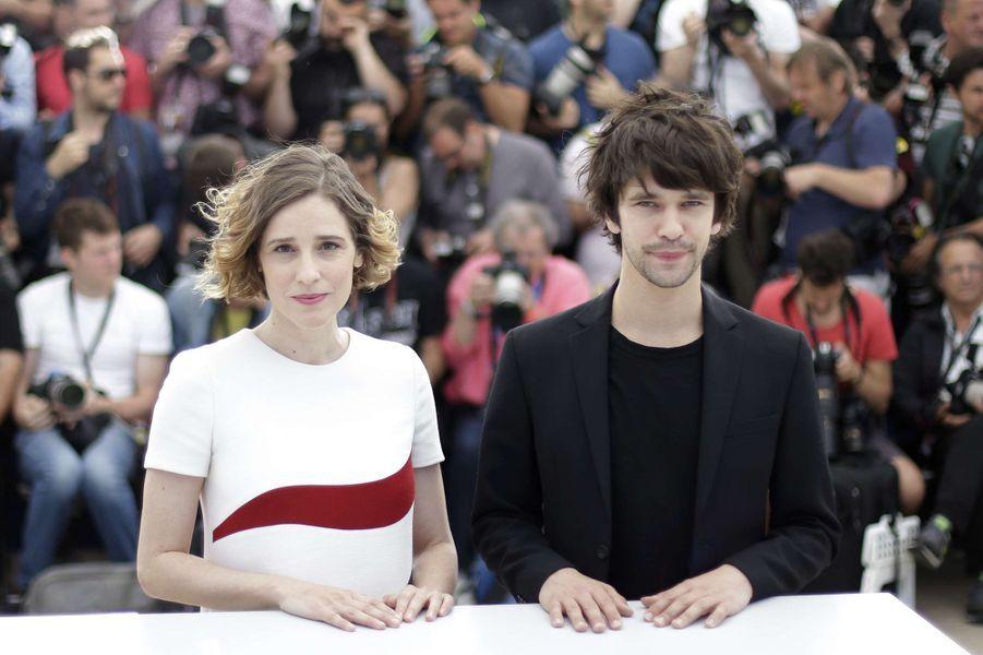 Angeliki Papoulia et Ben Whishaw à Cannes le 15 mai 2015