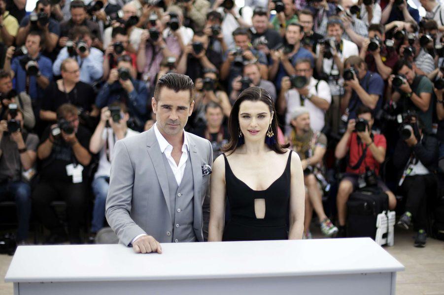 Colin Farrell et Rachel Weisz à Cannes le 15 mai 2015