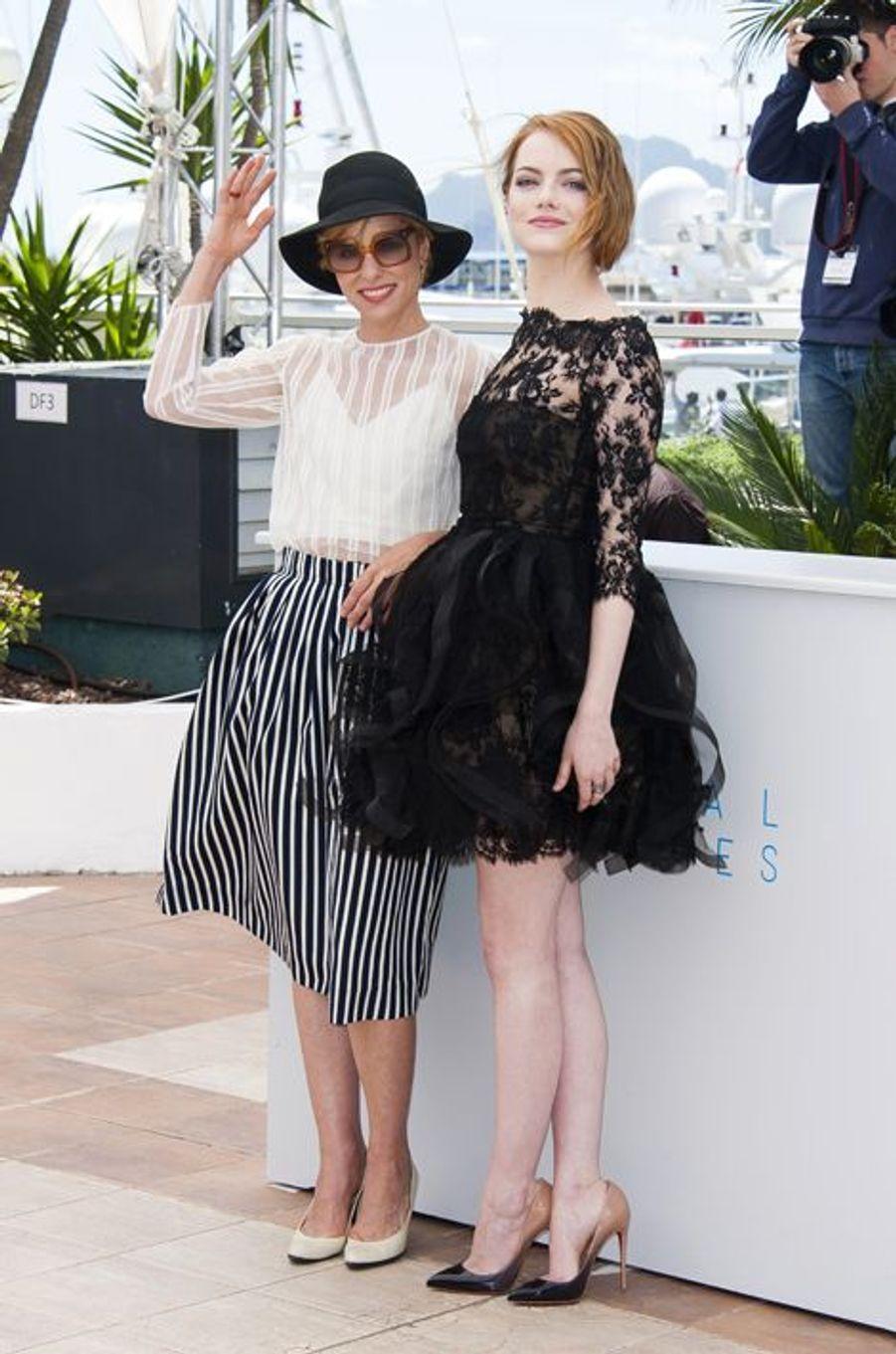 Parker Posey et Emma Stone à Cannes le 15 mai 2015