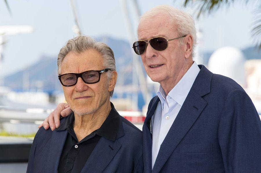 Harvey Keitel et Michael Caine à Cannes le 20 mai 2015