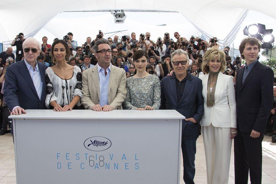 """L'équipe du film """"Youth"""" à Cannes le 20 mai 2015"""