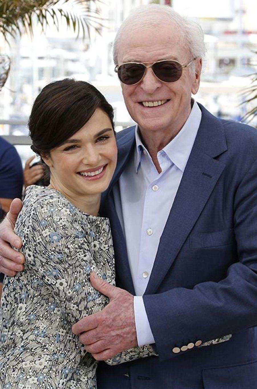 Rachel Weisz et Michael Caine à Cannes le 20 mai 2015