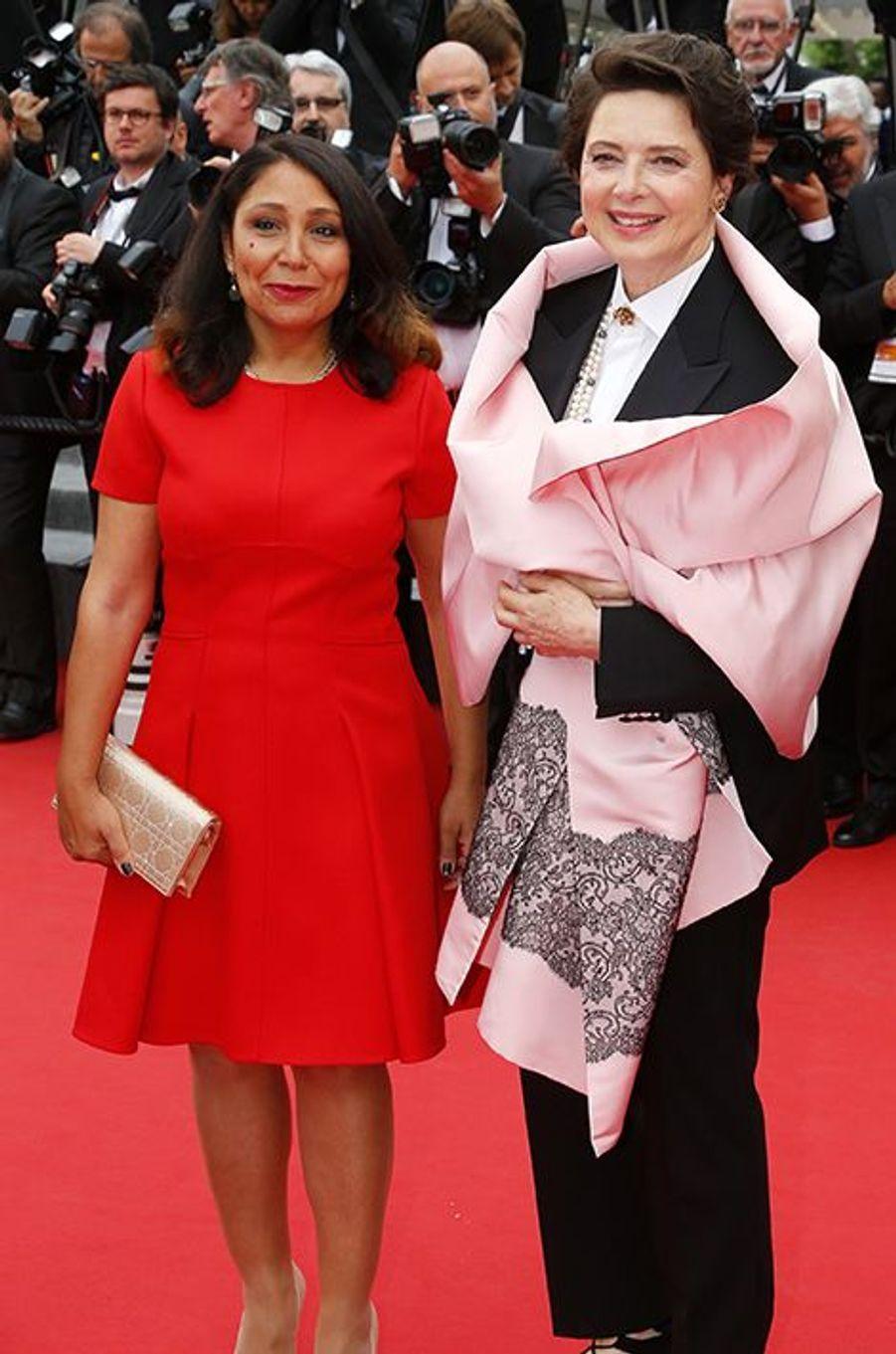 Haifaa al-Mansour et Isabella Rossellini à Cannes le 23 mai 2015