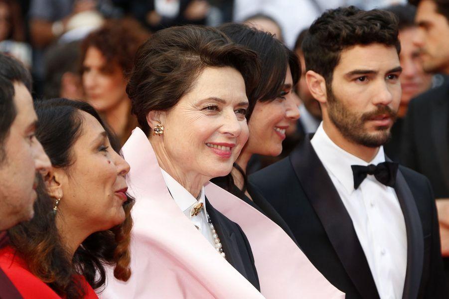 Isabella Rossellini et Tahar Rahim à Cannes le 23 mai 2015