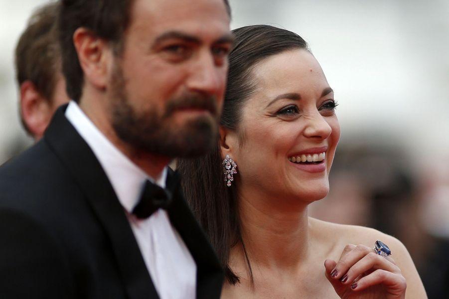 Justin Kurzel et Marion Cotillard à Cannes le 23 mai 2015
