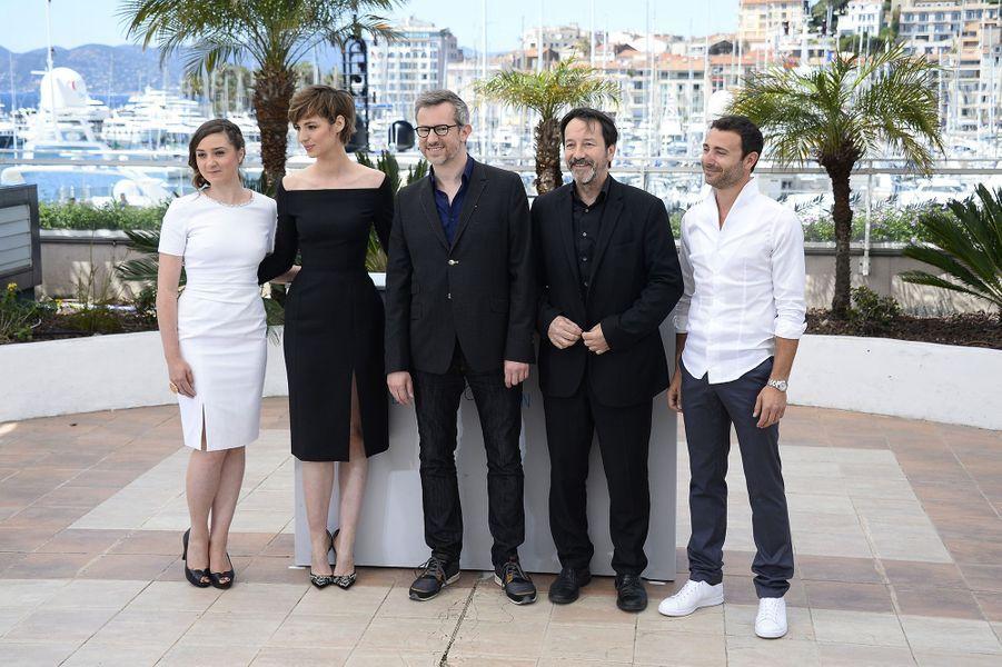 Anne Benoît, Louise Bourgoin, Laurent Larivière et Jean-Hugues Anglade à Cannes le 20 mai 2015